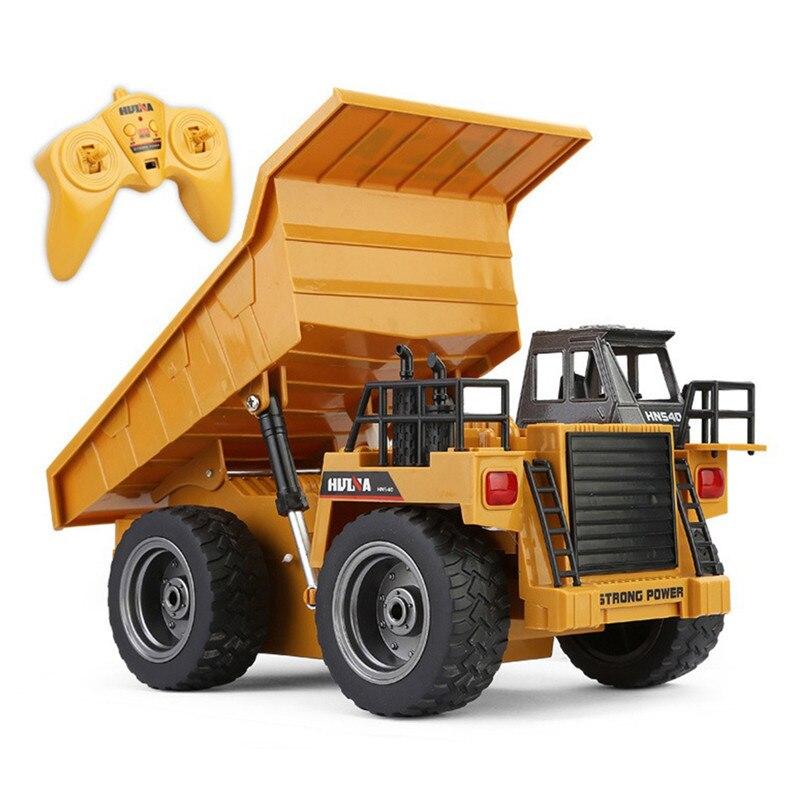 HuiNa 6 canaux 2.4G 1:14 RC pelle Bulldozer camion à benne basculante télécommande camion véhicule de Construction voitures pour enfants jouets cadeaux