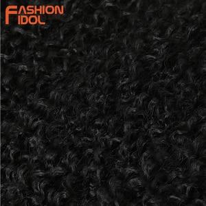 Image 5 - แฟชั่นIDOL Afro Kinky Curly Hair Bundles 7 ชิ้น/แพ็ค 22 26 นิ้วOmbreธรรมชาติสีดำสีสังเคราะห์ผมสานชุดผมหยิก