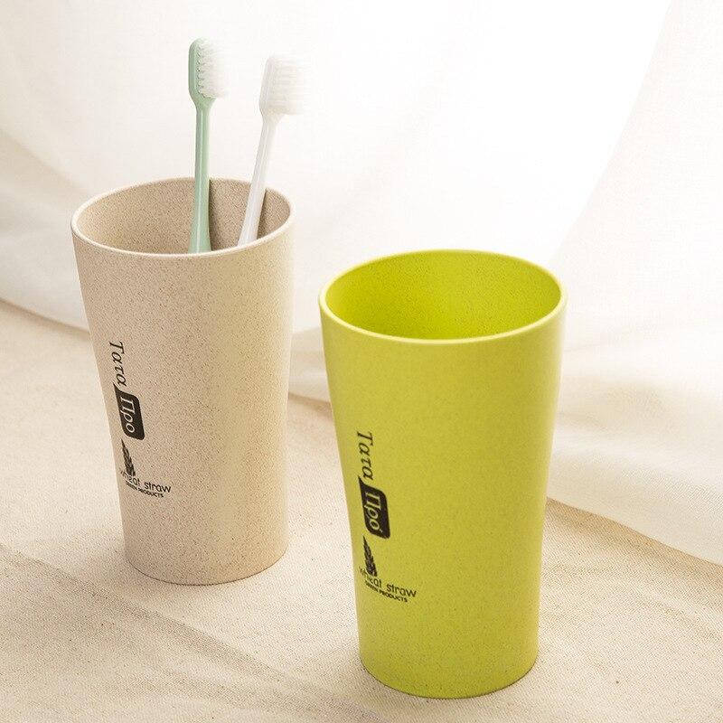 <font><b>Couple</b></font> Brushing Toothbrush <font><b>Cups</b></font> Bathroom Sets Toothbrush <font><b>Comfortable</b></font> Feel Straw wheat Drinking <font><b>Cup</b></font> Mug Wash Bottle Gargle <font><b>Cup</b></font>