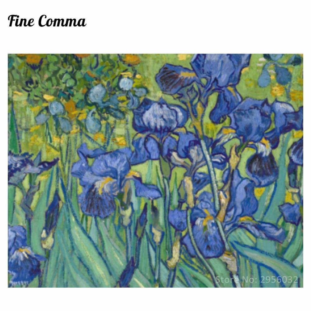 Irises Irises Iris 1889 by Vincent van Gogh Қолмен - Үйдің декоры - фото 3