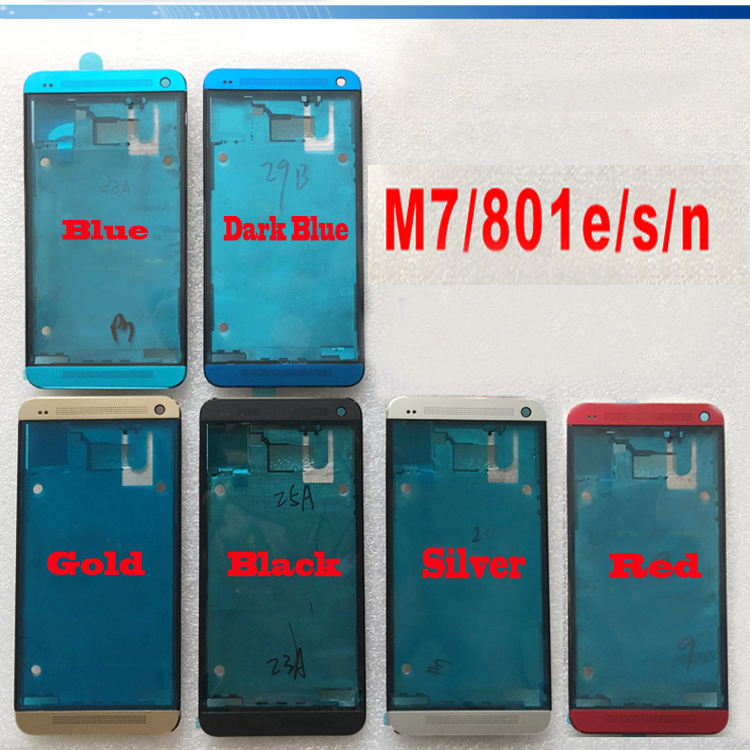 6 Colors New Ymitn Housing Front Faceplate Bezel Cover Case Frame For HTC One M7 801e 801n 801s, Free Shipping