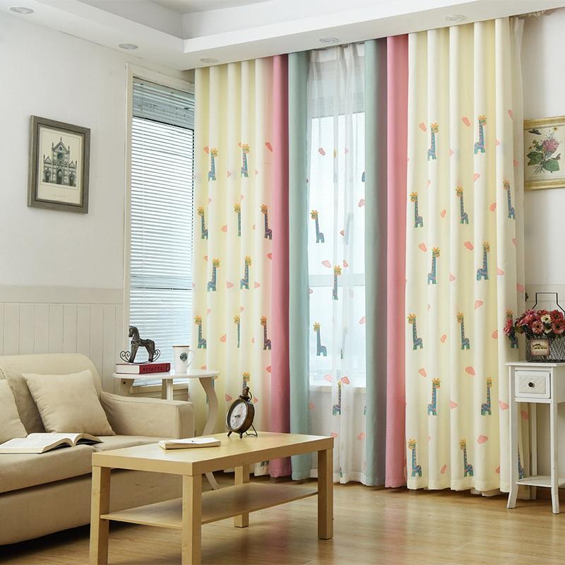 urijk unid linda decoracin de cortinas para la sala de modelo animal de color beige