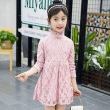 цена Girls Dresses 2018 Spring Autumn Girls Lace Long Sleeve Princess Dress Casual Kids Party Dress Girls Clothes 4 6 8 10 12 Years онлайн в 2017 году
