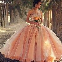 Оранжевый вина Пышное Платье для 15 год девушка бальное платье Милая Раффлед Часовня Поезд Quinceanera изготовление под заказ