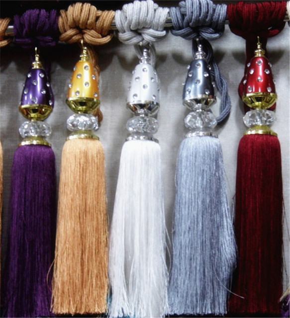 Promociones Inicio Cortinas Decorativas Colgante De Bolas 10 Color - Adornos-para-cortinas