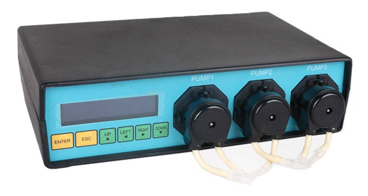 Speed Adjustable Dosing Pump for Aquarium DIY Suction Cup Mount Black Version