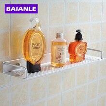 40/50cm two choices Aluminum Silver Bathroom Shelf For Shampoo Towel Holder Bathroom Accessories Shelf Toilet Mounting Bath Rack