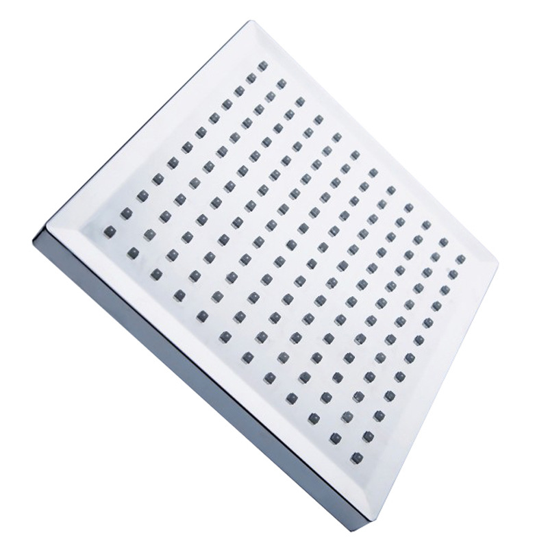 LED Top Spray 7 Self-discoloring Rain Shower Head Square Top Spray Shower Head Home Square Bathroom Flash Shower 8 Inch