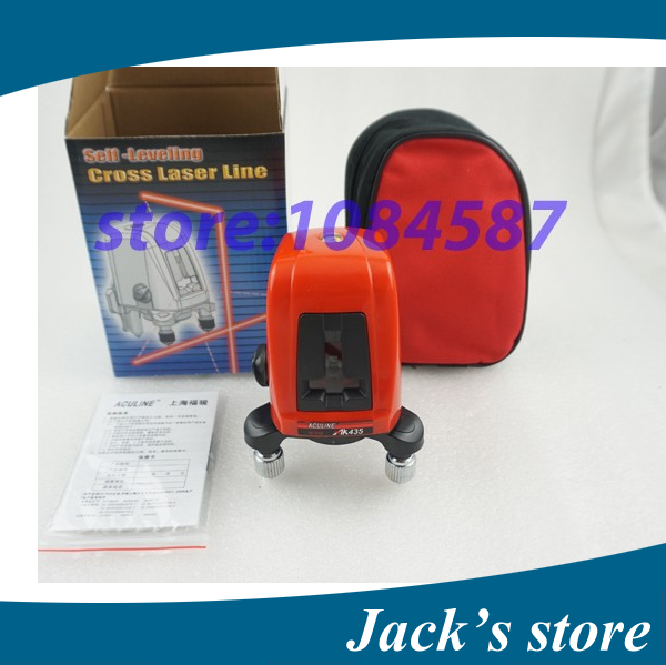 Freeshipping ! AK435 360degree self- leveling Cross Laser Level 1V1H Red 2 line 1 point HOT SALE