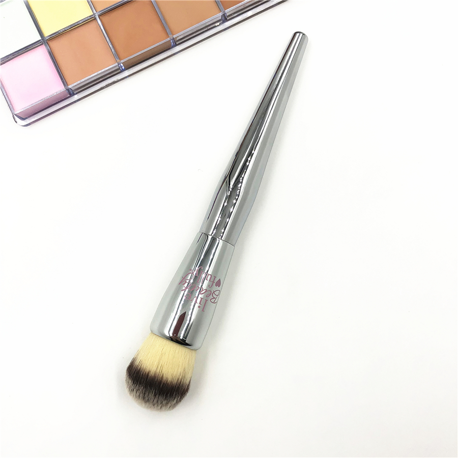 Live Beauty #227 Angled Blush Brush Silver It Cosmetics #206 Round Buffering Mineral Powder Makeup Brushes brochas maquillaje stylish multifunction telescopic design lid angled fiber blush brush