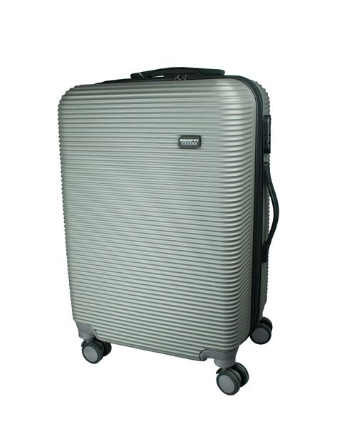 [Available from 10.11] Fashionable grey suitcase PROFFI TRAVEL PH8859grey, M, plastic, with combination lock