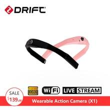 DRIFT X1  Action Camera Wearable Helmet Sports Camera  4G Wireless HD IP Camera WiFi Real-time Live Camera  Ambarella A7