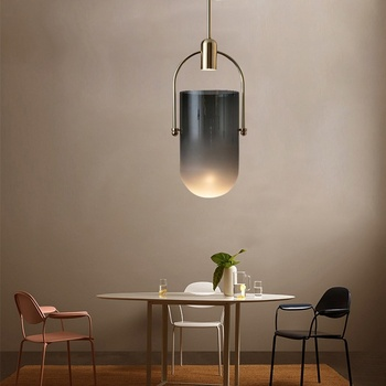 Nordic Designer led Pendant Lamp Simple Single Head home deco Glass Pendant Lights Restaurant dining room kitchen hanging lamps