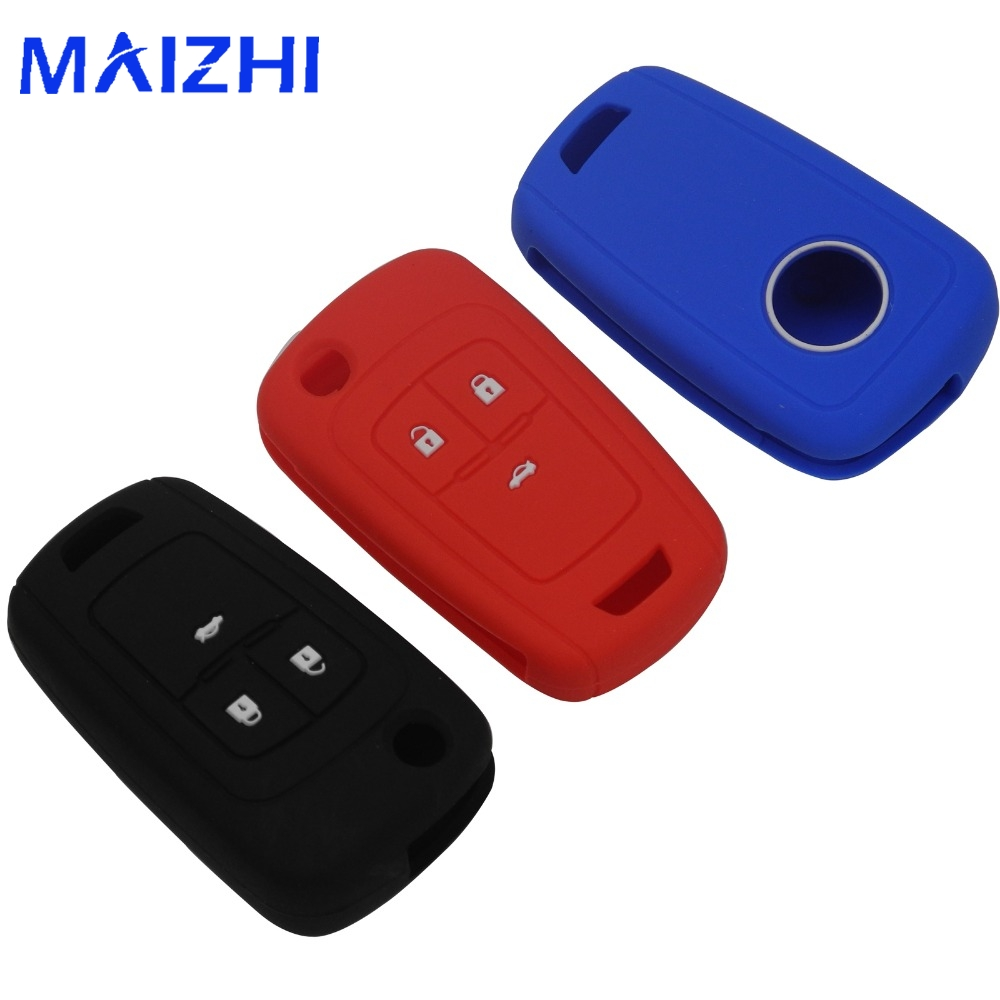 maizhi 3 Buttons Silicone Car Key Cover For Buick Chevrolet Regal Lacrosse Encore Excelle GT/XT Opel Astra VAUXHALL MOKKA Zafira for buick lacrosse excelle gt excelle xt verano light led moving front door scuff sticker sill plate pedal protector styling wh