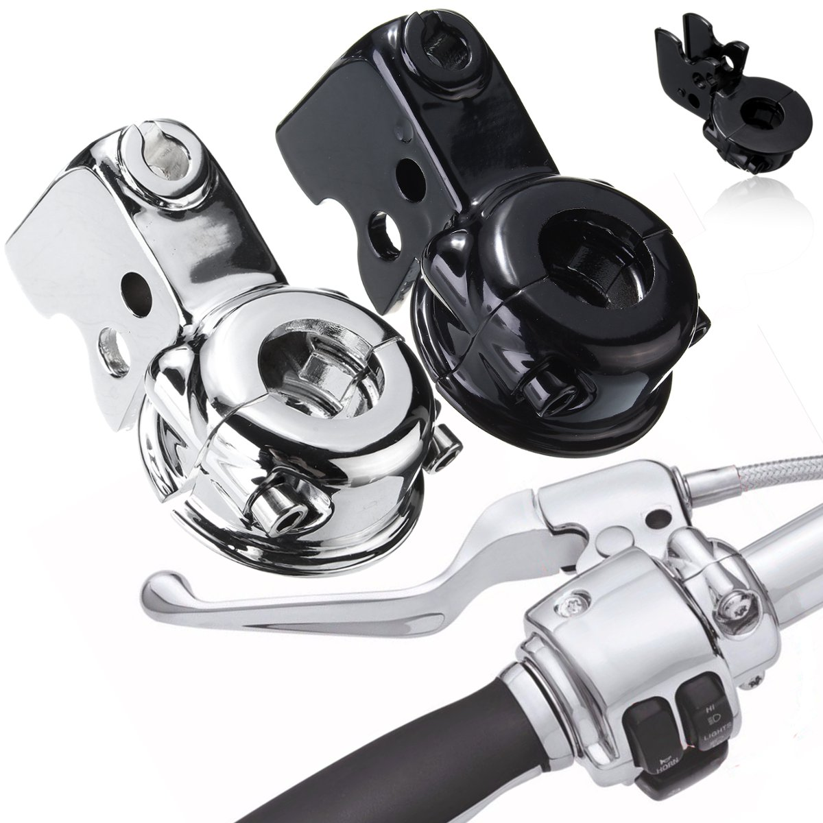 Motorcycle Clutch Lever Mount Bracket Perch For Harley Touring Glide Softail Dyna Sportster 883 Chrome Black triclicks motorcycle black hand levers clutch brake lever handlebar for harley sportster 883 1200 softail dyna road king touring