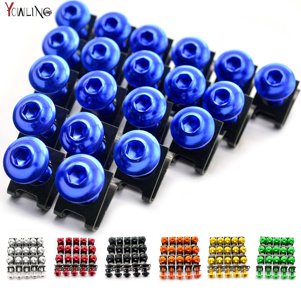 20 pieces <font><b>R6</b></font> Motorcycle Complete Fairing Bolts Bolt <font><b>Kit</b></font> <font><b>Body</b></font> Screws For <font><b>Yamaha</b></font> YZF-<font><b>R6</b></font> <font><b>R6</b></font> xt 600 ybr 125 yzf r125 fjr1300 MT 07 image