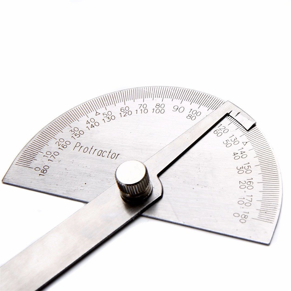 Us 4 46 10 Off 14 5cm 180 Degree Adjustable Protractor Angle Finder Craftsman Ruler Stainless Steel Caliper 10cm Measuring Tools Woodworking In Hand