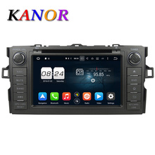 KANOR 4G+32G Octa Core Android 6.0 Car Multimedia Player For Toyota Auris With GPS Navigation DVD Bluetooth SWC Audio Radio WIFI