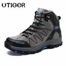 11462de1bd UTIGER Men Hiking Shoes Wearable Breathable Men Outdoor Rubber Boots Man  Trekking Shoes High Cut Mountain