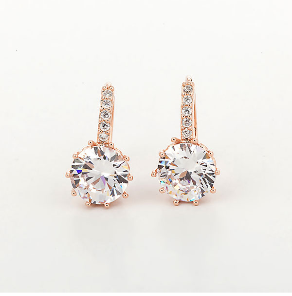 2019 New Arrival Genuine Gold Women 39 s Crystal Stud Earring Holder Ear Cuffs Earrings For Women Femme Pendientes Brinco Ouro Gift in Stud Earrings from Jewelry amp Accessories