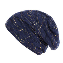 summer beanies for women Cotton Stretch Turban Hat Thin lace breathable cap Cros