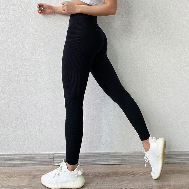 SVOKOR High Waist Leggings Women Push Up Fitness Leggings Solid Super elastic Pants Womens Workout Jeggings 1