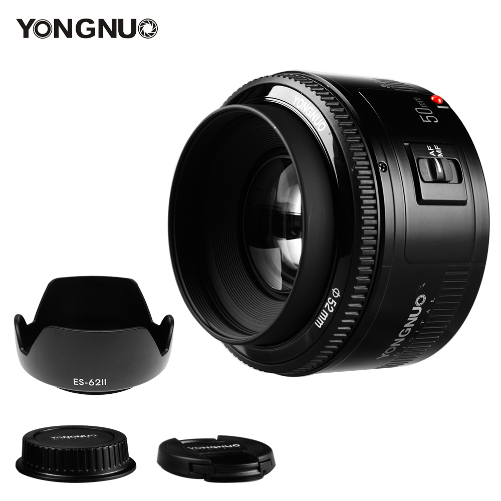 YONGNUO YN 50mm F1 8 Lens Large Aperture Auto Focus Lens 50mm f1 8 for Canon