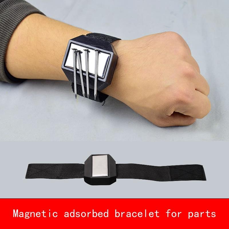 Creative design Practical Magnetic adsorbed bracelet neodymium magner for screw nut nail parts repair цена и фото