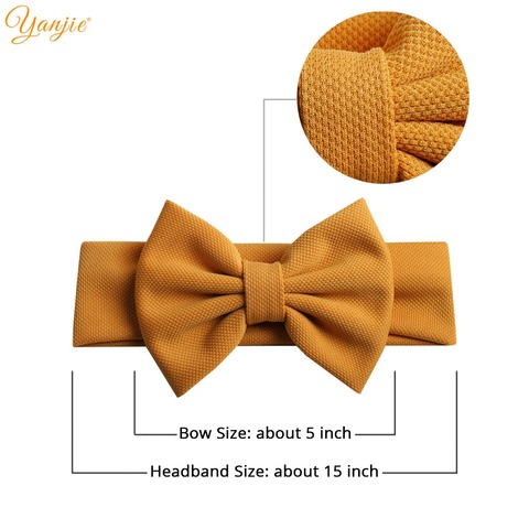 2020 New 5 Hair Bows Headband For Girls Chic Solid Spring Hairband Hair Ties For Kids DIY Girls Hair Accessories Headwear Islamabad