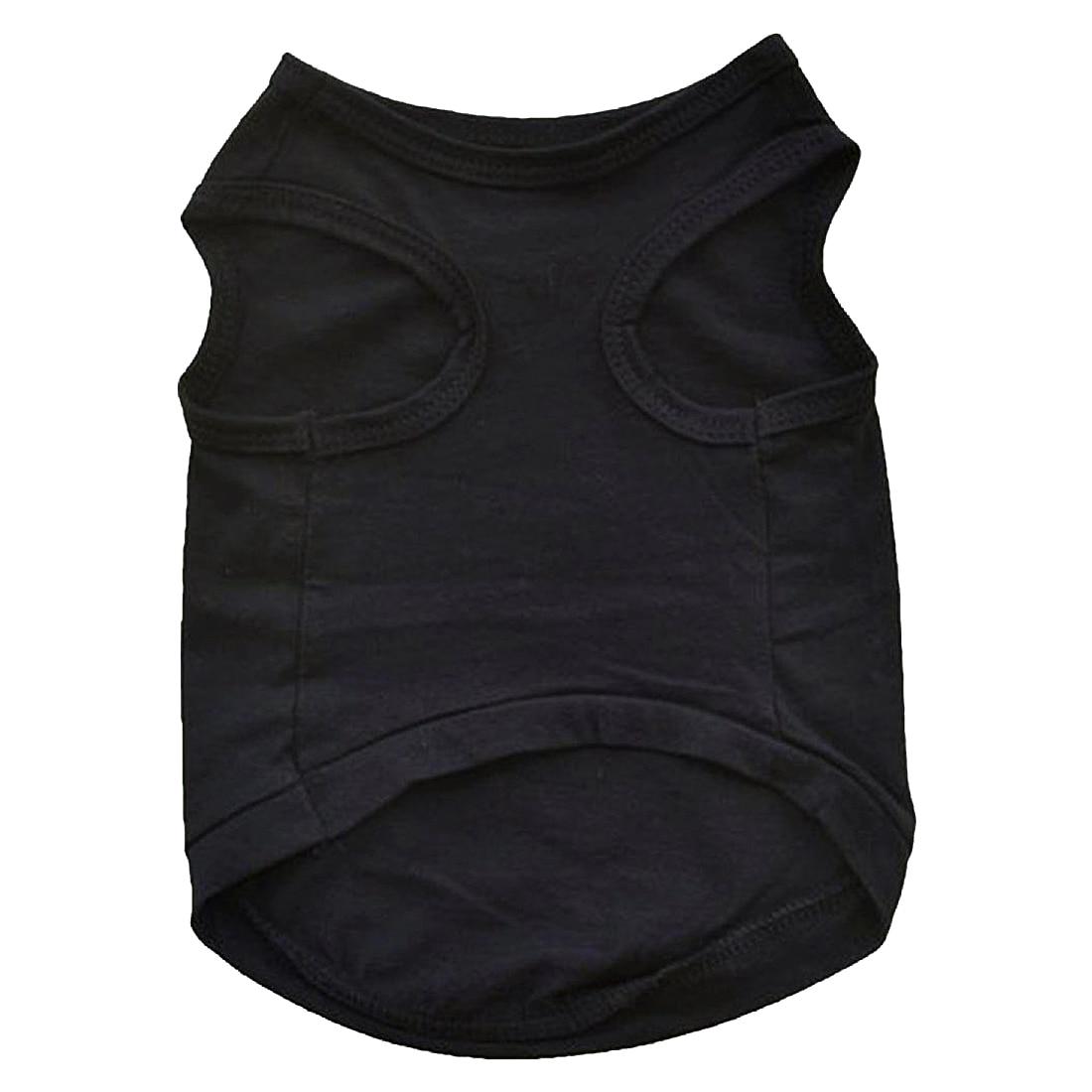 Pet Winter Clothes Puppy Dog Cat Vest T Shirt Coat Dress Sweater Apparel SECURITY, Black
