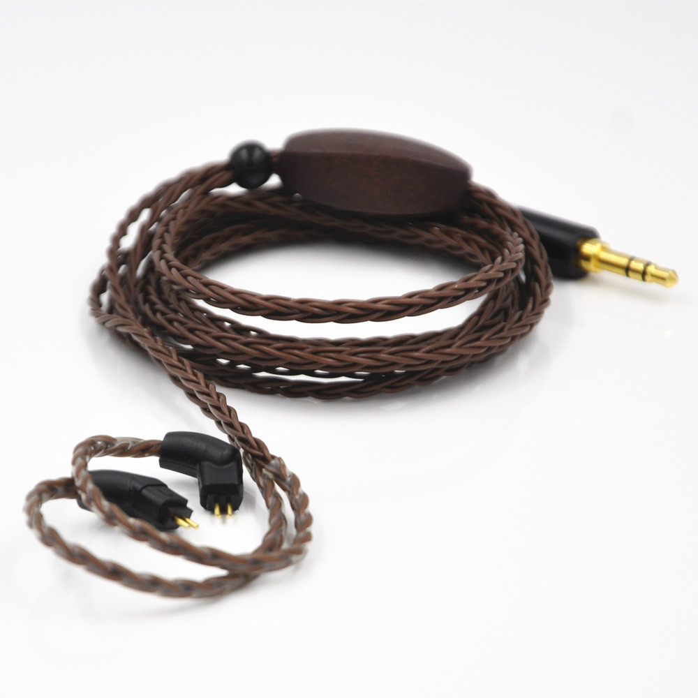 AK Custom Made 8 Core Detach Cable Single Crystal Copper Plated For MH334 MH335 UM3X W4R With Optional Connector(MMCX Or 2pin) wooeasy custom made 8 core the heart of the ocean earphone upgrade cable for ue pro18 se215 ie80 im40 70 w4r ue900 tf10 15
