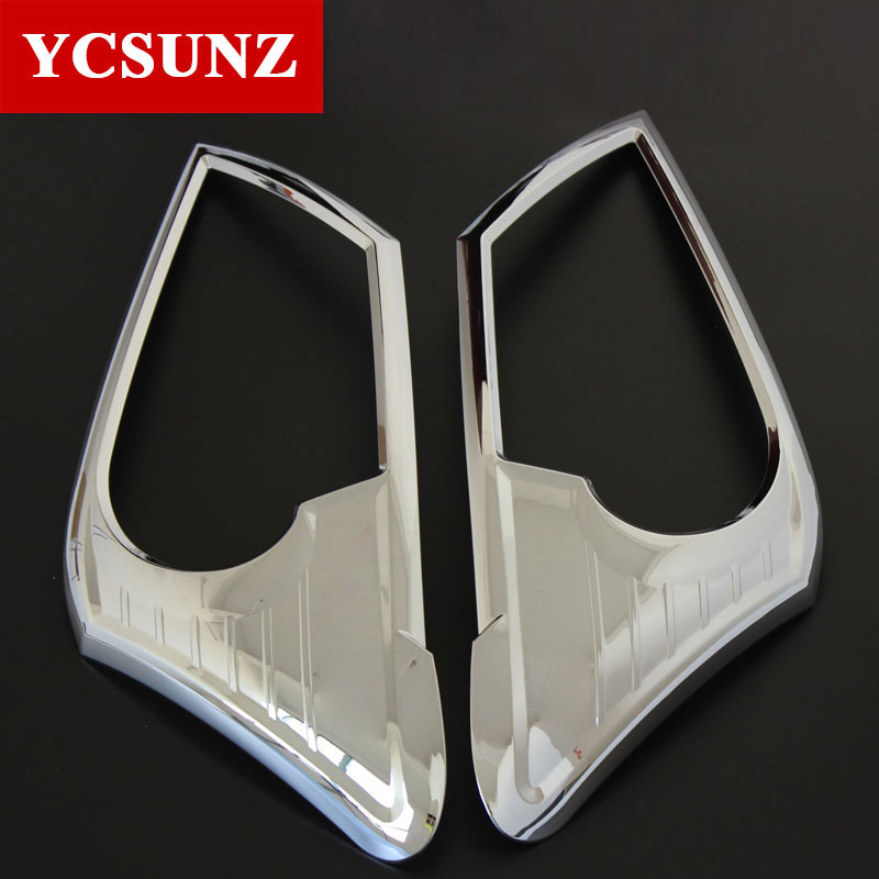 Headlight Cover For Isuzu Mu-x 2014 2015 2016 Chrome Color Car Styling Exterior Parts(China)