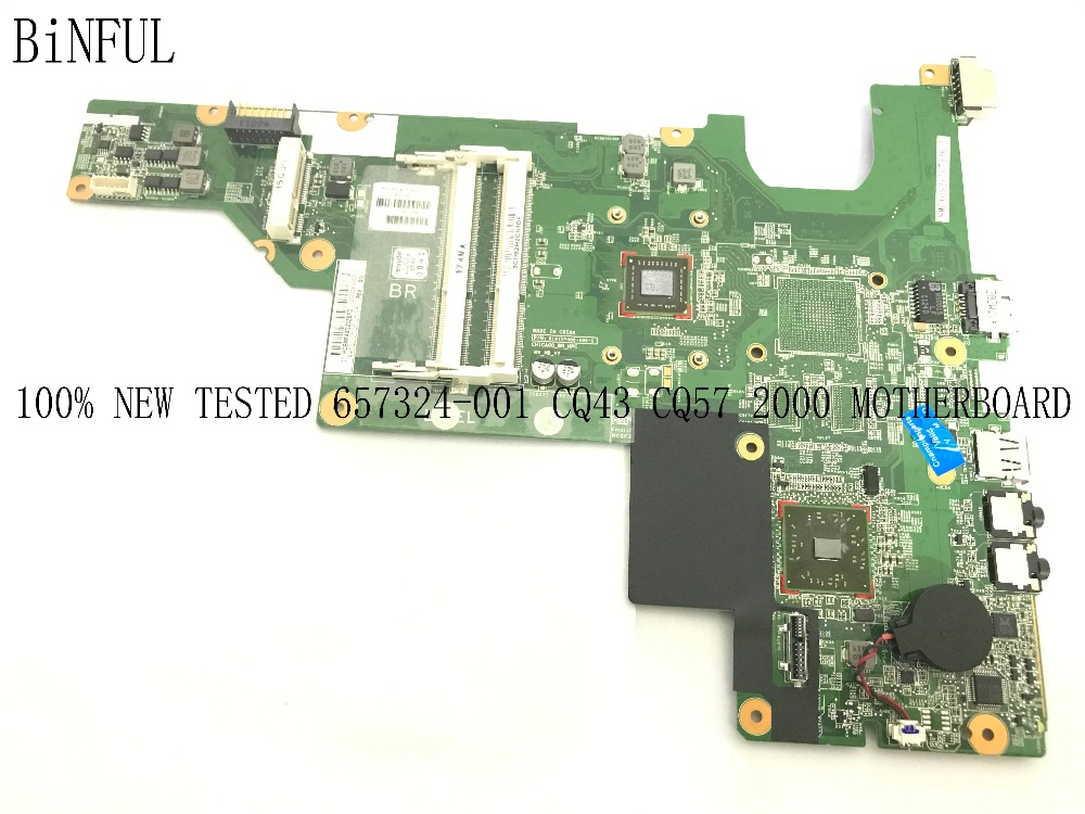 BiNFUL SUPER  STOCK ,100% NEW , MAINBOARD LAPTOP MOTHERBOARD FOR HP 2000 CQ43 CQ57 NOTEBOOK ,WITH ONBOARD PROCESSOR (fully Test)