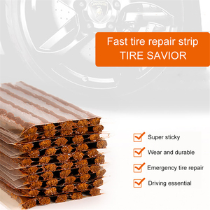 Image 1 - 1 Set Car Tire Repair Rubber Strip Block Air Leaking Rubber Cement For Car Truck Motorbike Tubeless Tire Auto Accessories