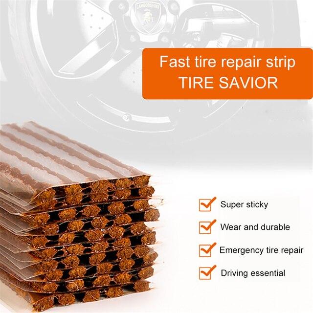 1 Set voiture pneu réparation caoutchouc bande bloc Air fuite caoutchouc ciment pour voiture camion moto Tubeless pneu Auto accessoires