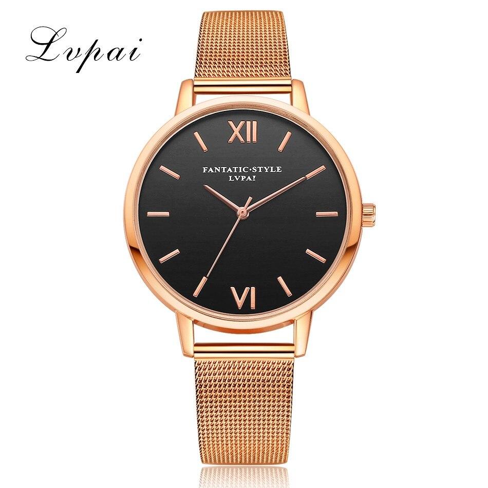 2018 New Lvpai Women Watch Luxury Gold Bracelet Watch Top Quality Quartz Watch Ladies Business Wrist Watch Relogio Dropshiping lvpai p027 women mesh alloy band quartz wrist watch