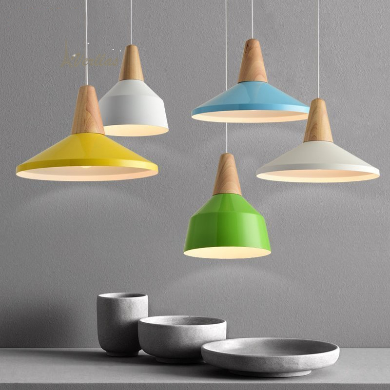 цена на Middlesbrough Nordic Modern Simple Wooden Study Bedroom Creative Creative Wooden Dining Room Restaurant Single Head Chandelier