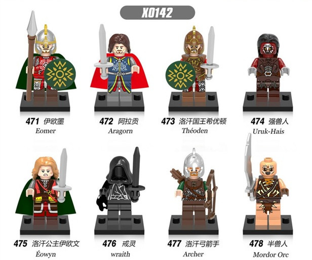 Toys & Hobbies 8pcs Super Heroes Marvel The Lord Of The Rings Eowyn Eomer Wraith Archer Aragorn Mordor Orc Building Blocks Brick Toys Juguetes 100% Guarantee