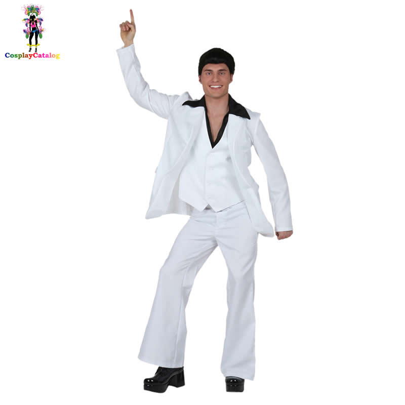 Elvis Presley Cosplay Dancer/Song Men Costume Halloween Party Handsome Wishes Elvis Costumes Kits Vest + jacket + belt + trouser image