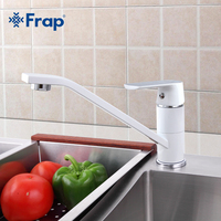 FRAP Fashion Style Multi Color Kitchen Faucet Cold And Hot Water Taps White Orange Green 360