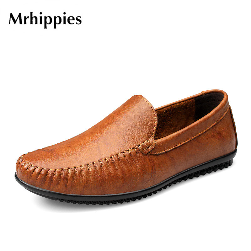 MRHIPPIES 2017 Summer Luxury Genuine Leather Flats Loafers Men Shoes Casual Fashion Slip On Driving Breathable Size 36-47 9004Q big size 39 48 men flats summer genuine leather loafers breathable driving shoes moccasines slip on male casual shoes xk032808