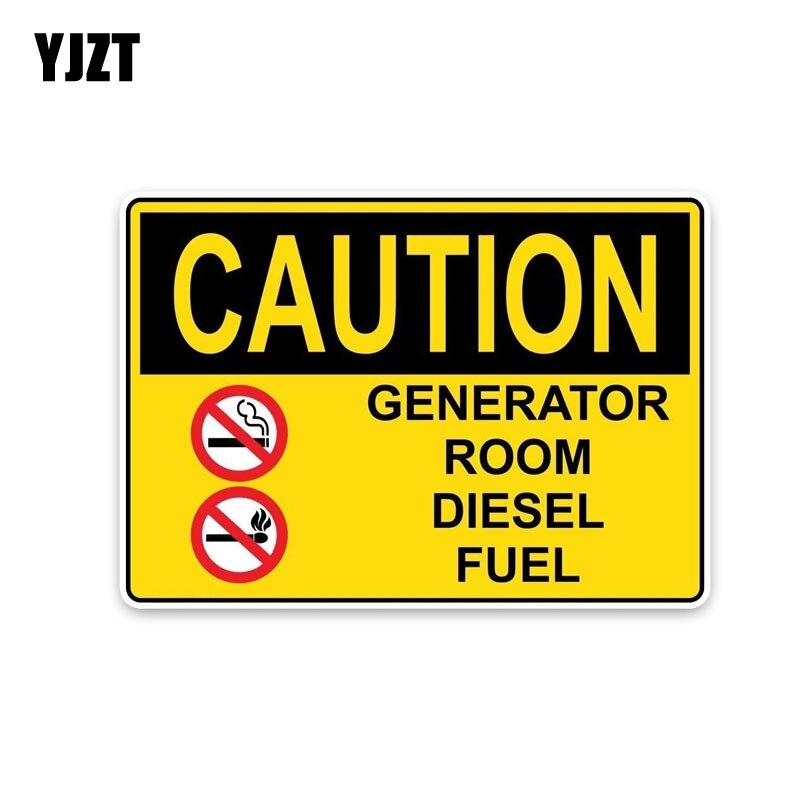 Yjzt 15.4*10.7 см модные внимание генератор номер дизельного топлива Предупреждение признаки ПВХ наклейки автомобиля Стикеры c1-8304