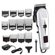 مقص الشعر اللاسلكي القوي قابل للتعديل اللحية المهنية الكهربائية الشعر المتقلب للرجال آلة قطع الشعر الحلاق قص الشعر