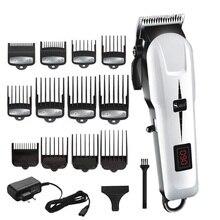 Cordless potente tagliatore di capelli regolabile barba elettrico professionale trimmer capelli per gli uomini macchina di taglio di capelli barbiere taglio di capelli