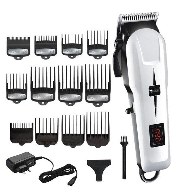 Cordless powerful hair clipper adjustable beard professional electric hair trimmer for men hair cutting machine barber hair cut