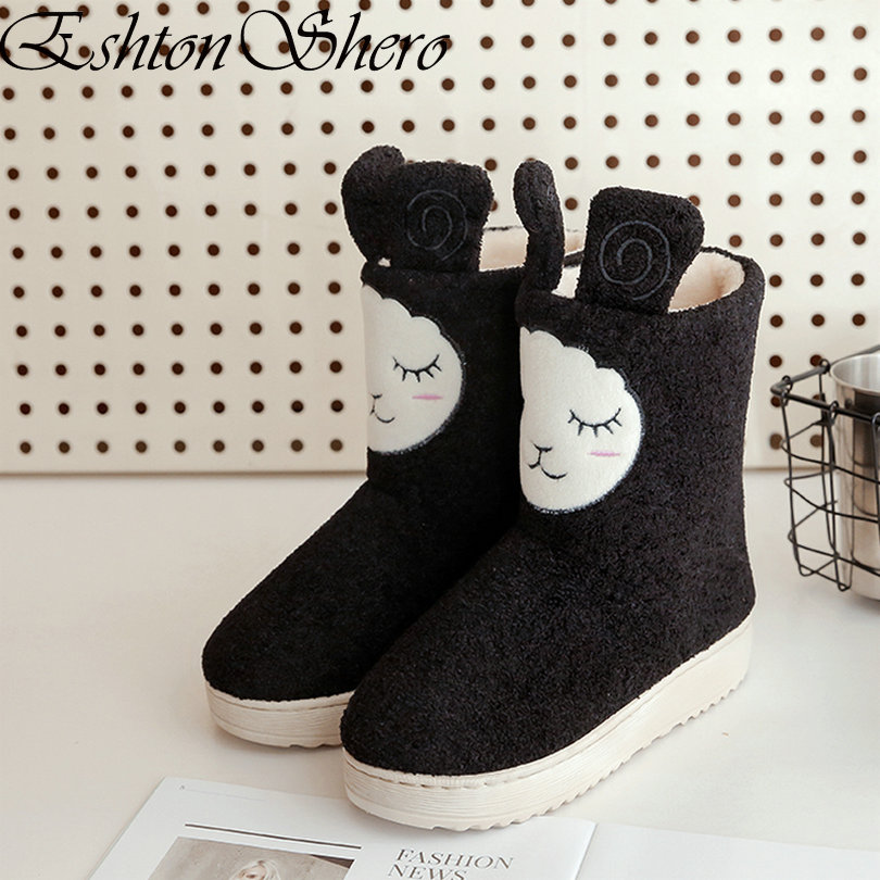 8f98d362c6dd5 eshion Womens Lace Up Flat Heel Ankle Snow Boot Fleece Lined Outdoor