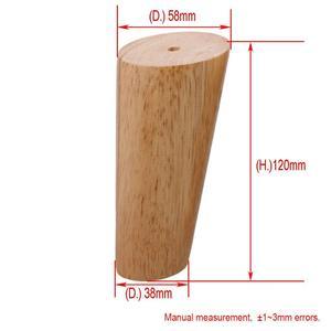 Image 4 - אלון עץ 120x56x38mm גובה אמין נוטה ריהוט רגל עם ברזל צלחת ספת שולחן ארון רגליים סט של 4 משלוח הודעה