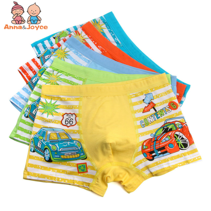 5Pcs/Lot Children's Underwear Boy Boxer Shorts Kids Underwear  Boys Cartoon Underwear