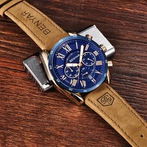 Image 5 - BENYAR 2019 модные спортивные мужские часы с хронографом, лучший бренд, Роскошные водонепроницаемые военные кварцевые часы, мужские часы