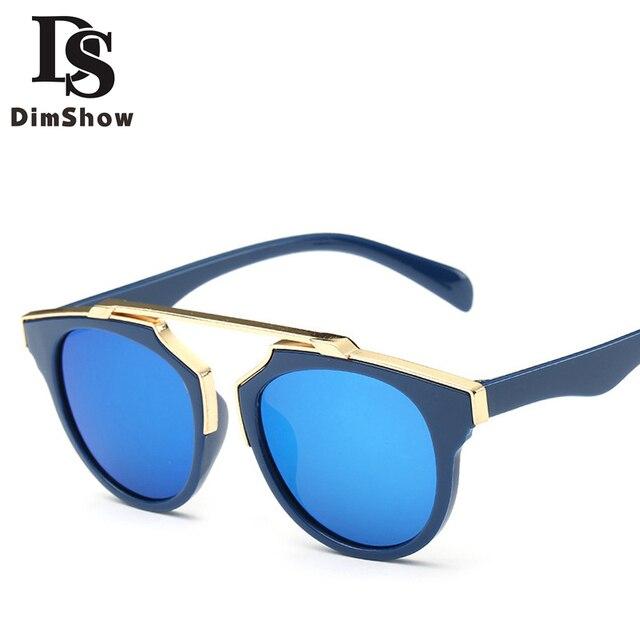 ed4ddcbbfce2f Dimshow Demi Cadre Polaroid Lentille lunettes de Soleil Enfants Filles  Garçons Marbre Rose Lunettes Petit Cercle. Passer la souris dessus pour  zoomer